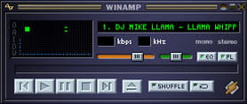 WinAmp MP3 player
