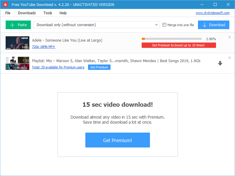 YouTube downloading and converting software