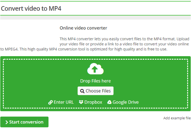 URL to MP4 Online Converter