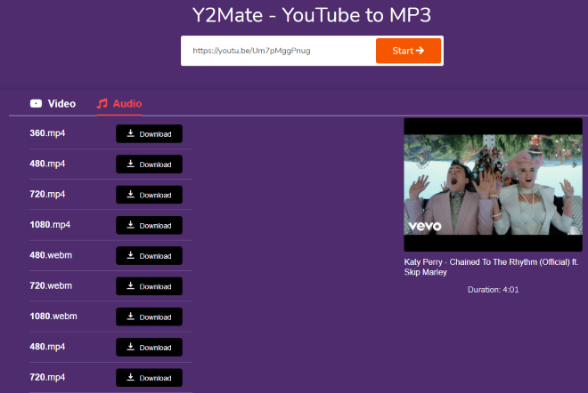 Y2Mate Free Online Youtube Long Audio Downloader
