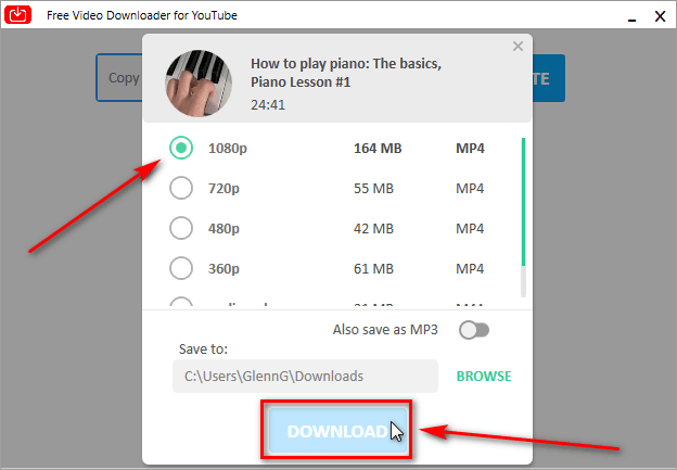 Step 4 - Press download button